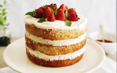 TORTA OD JAGODA I MASCARPONE-A (NAKED CAKE)